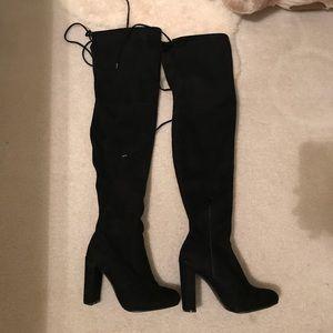 Fashion Nova Black Knee High Boots